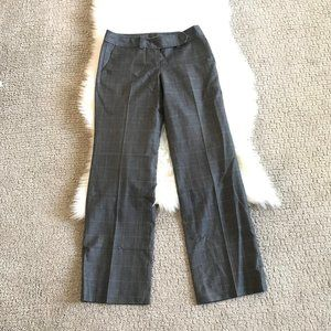 Ann Taylor Petite Plaid Gray Dress Slacks Pants
